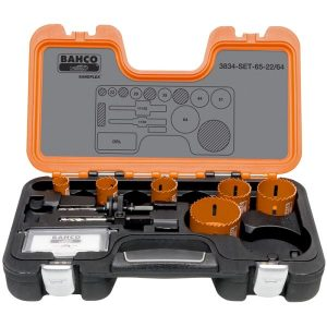 Bahco 3834-SET-65-22/64 Hålsågsats