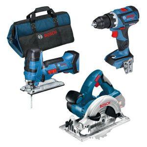 Bosch 0615990K1E Verktygspaket med väska, 5,0Ah batterier och laddare