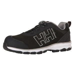 H/H Workwear Chelsea Evo BOA Wide Skyddssko S3, svart/grå, komposithätta Strl 40