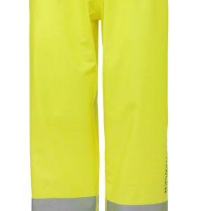 H/H Workwear Narvik Regnbyxa varsel, gul Strl M