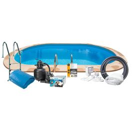 Nedgrävd pool Steel Oval Swim & Fun