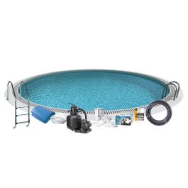 Nedgrävd pool Steel Rund Swim & Fun