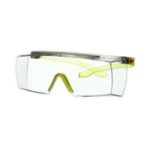 3M Secure fit 3700 Skyddsglasögon Limegrön skalm, klar lins