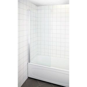 Arrow Bath Badkarsvägg vändbar, klarglas, 1500 x 800 mm