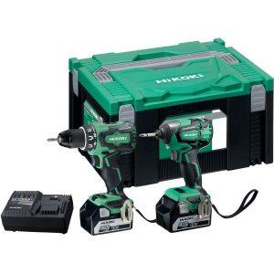 HiKOKI KC18DBSL Verktygspaket med batterier och laddare