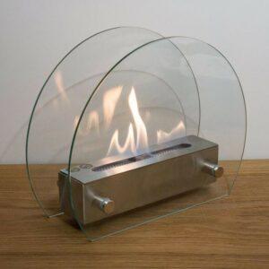 Cirkulär glas etanolkamin