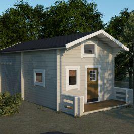 Loftstuga 30kvm med veranda 5kvm och loft 8kvm Sorselestugan