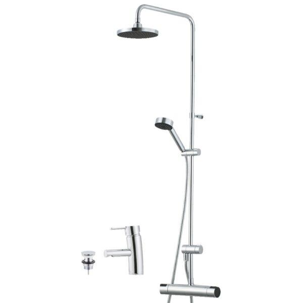 Takduschset Mora MMIX Bathroom Concept med Tvättställsblandare