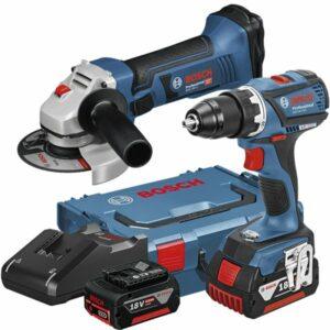 Bosch GSR 18V-EC + GWS 18-125 V-LI Verktygspaket + Vinkelslip GWS 18-125 V-LI